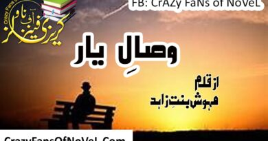 Wisaal e Yaar By Mehwish Bint E Zahid (Complete Novel)