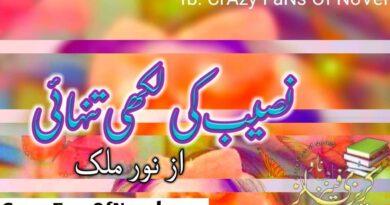 Naseeb KI Likhi Tanhai By Noor Malik (Complete Novel)