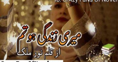 Meri Zindagi Ho Tm By Noor Malik (Complete Novel)